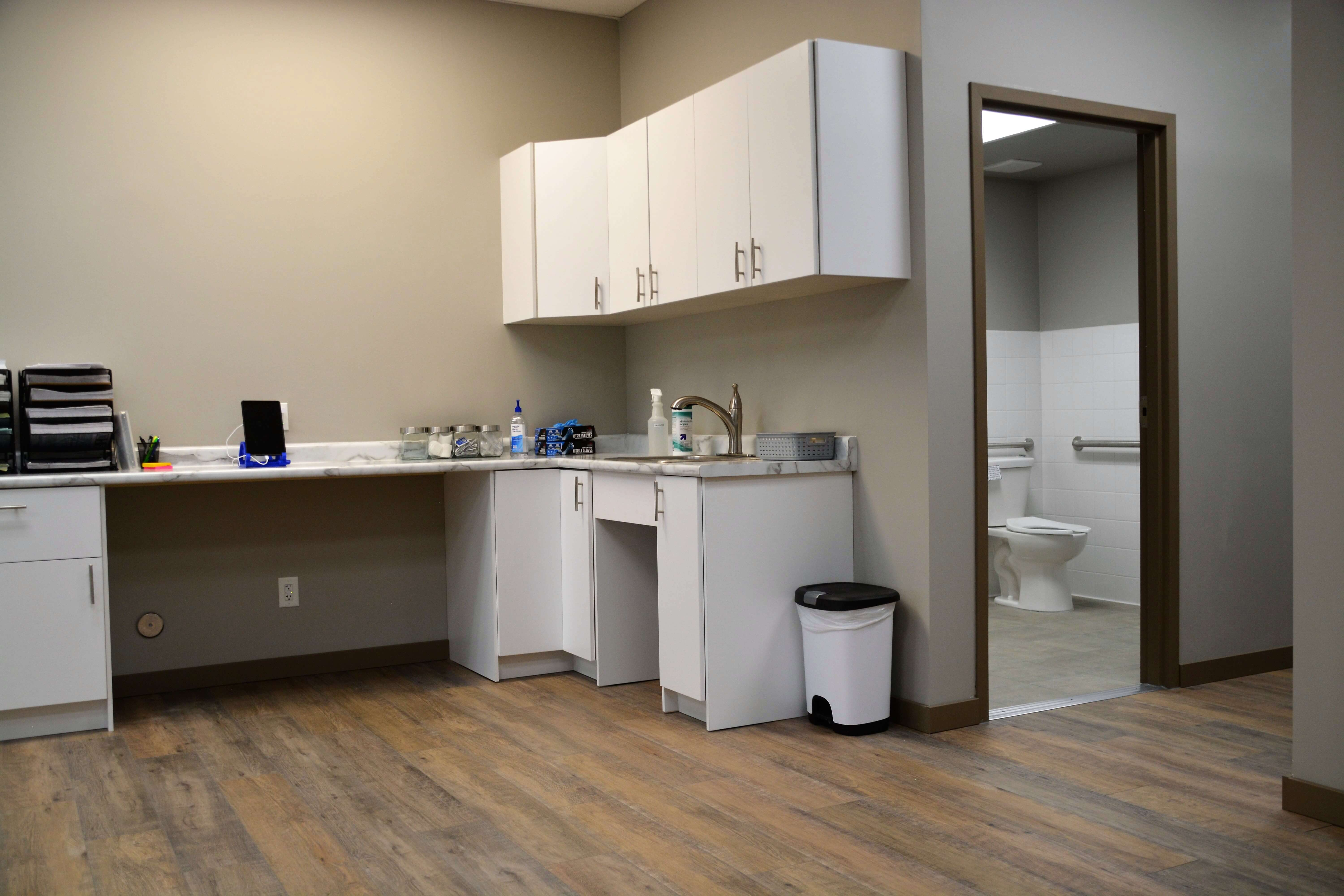 Lab and Bathroom